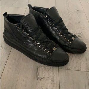 Men's Balenciaga Black All Arena High Top Sneaker